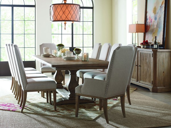 Legacy Furniture Monteverdi Sun Bleached Cypress 11pc Dining Room Set LGC-7500-622K-DR-S2
