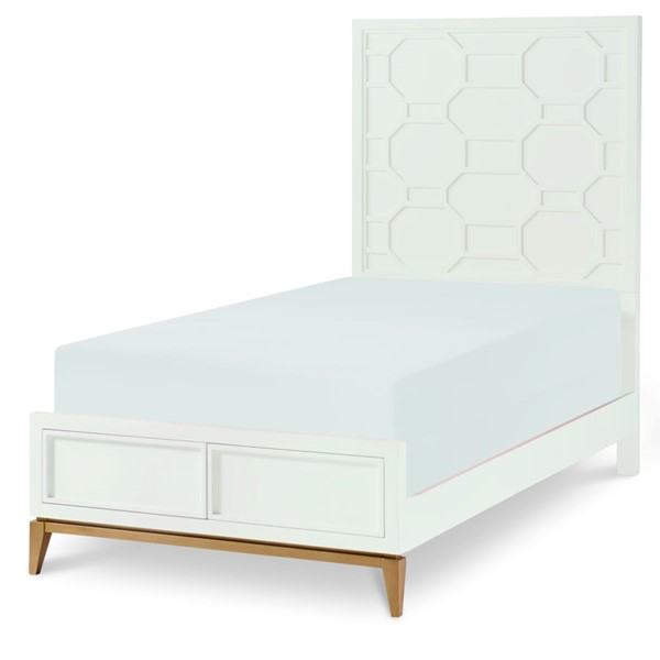 Legacy Kids Chelsea White Gold Complete Panel Bed LGC-7810-4103-BED-VAR1
