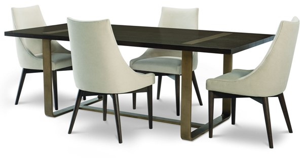 Legacy Furniture Austin Acacia Dining Table With Brass Finish Accent Top LGC-8100-220
