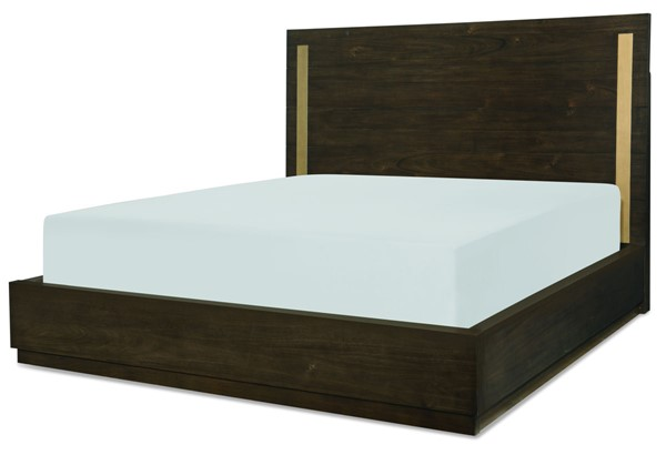 Legacy Furniture Austin Acacia Panel Bed With Brass Finish Accent LGC-8100-4105-BED-VAR1