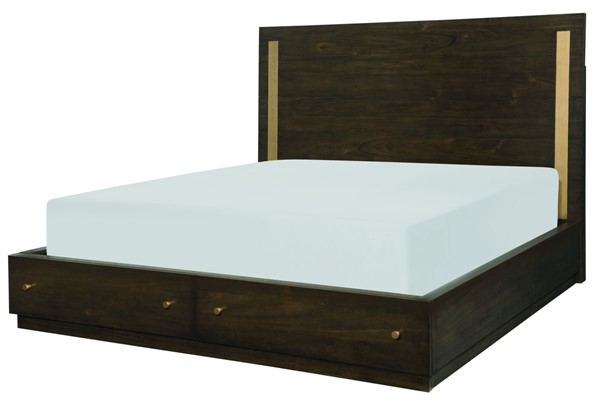 Legacy Furniture Austin Acacia Panel Bed With Storage Footboard LGC-8100-4125-BED-VAR2