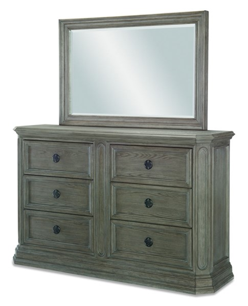 Legacy Furniture Manor House Cobblestone Dresser And Mirror LGC-8200-0200-DRMR