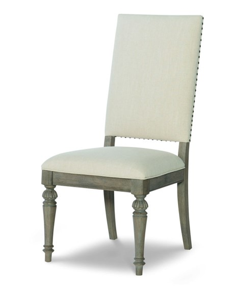 2 Legacy Furniture Manor House Cobblestone Upholstered Back Side Chairs LGC-8200-340