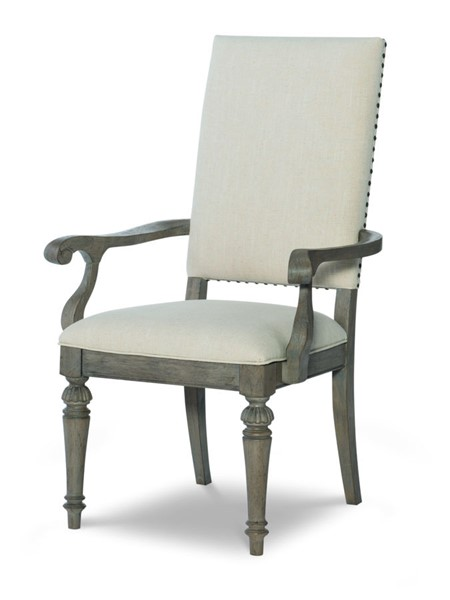2 Legacy Furniture Manor House Cobblestone Upholstered Back Arm Chairs LGC-8200-341