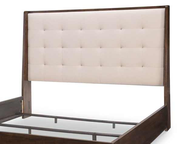 Legacy Furniture Paldao Sable Queen Upholstered Shelter Headboard LGC-8460-4405