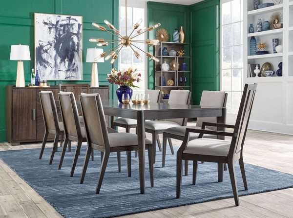 Legacy Furniture Paldao Sable Smoke 9pc Dining Room Set with Splat Back Arm Chair LGC-8460-222-DR-S7