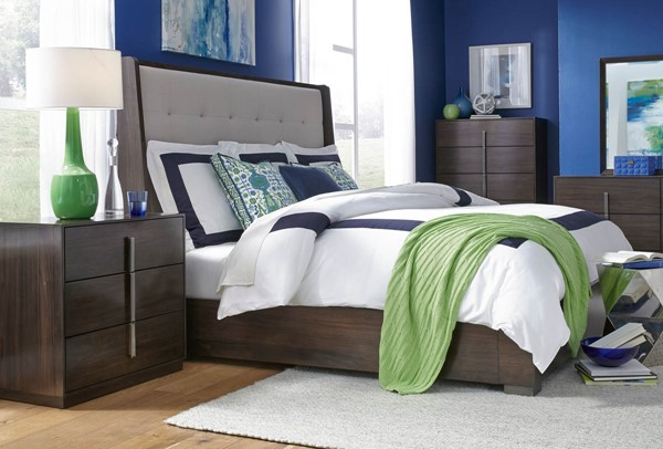 Legacy Furniture Paldao Sable 2pc Bedroom Set with King Shelter Bed LGC-8460-4406K-BR-S1