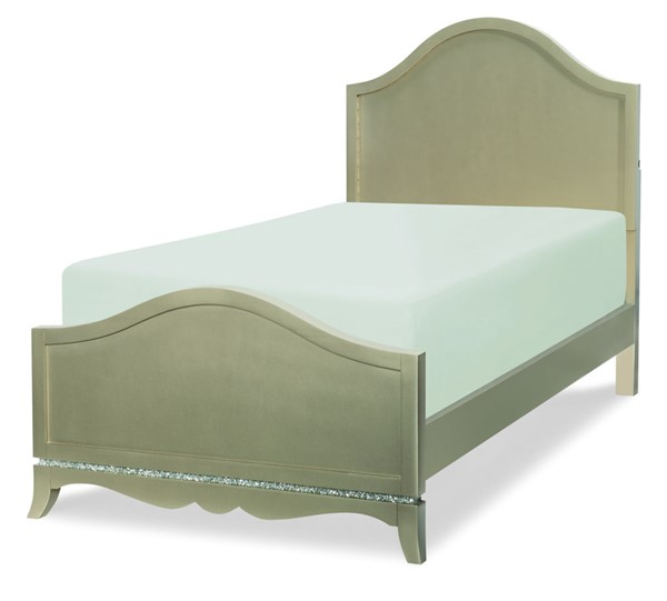 Legacy Kids Glitz Glam Platinum Arched Panel Bed LGC-8800-4103K-BED-VAR1