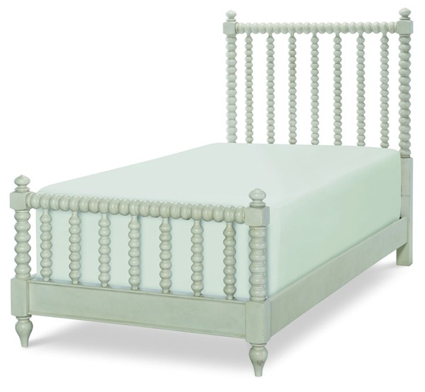 Legacy Kids Grace Gray Low Post Spindle Bed LGC-8810-4203K-BED-VAR1