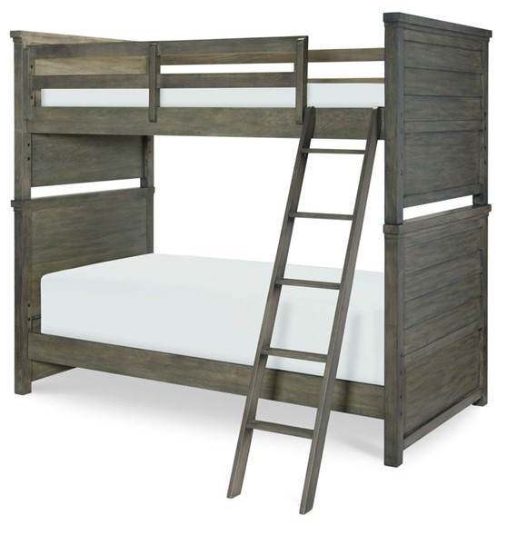 Legacy Kids Bunkhouse Aged Barnwood Bunk Bed With Trundle LGC-8830-8110-BNK-BED-VAR3