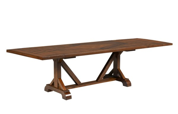 Larkspur Rustic Burnished Caramel Wood Rectangular Trestle Table-Top LGC-931-622-TLC