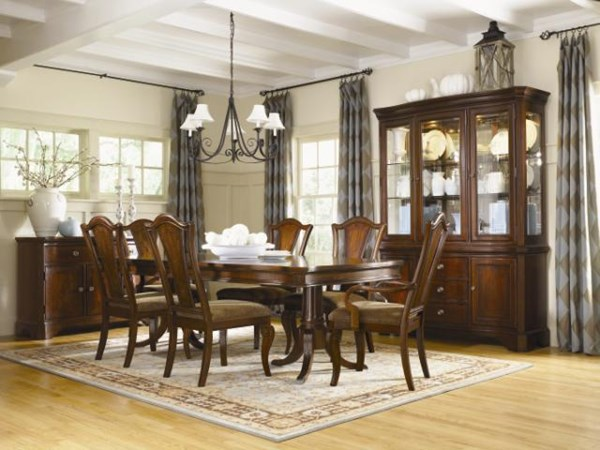 American Traditions Casual 18th Century Mahogany Dining Table Set LGC-9350-622-DT