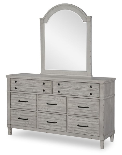 Legacy Furniture Belhaven Weathered Plank Dresser and Mirror LGC-9360-1200-DRMR