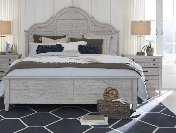 Legacy Furniture Belhaven Weathered Plank 2pc Bedroom Set with Queen Panel Bed LGC-9360-4105-BR-S1