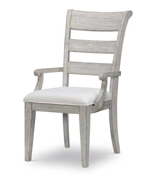 2 Legacy Furniture Belhaven Weathered Plank Ladder Back Arm Chairs LGC-9360-241