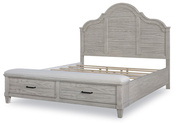 Legacy Furniture Belhaven Weathered Plank King Bed with Storage Footboard LGC-9360-4136K