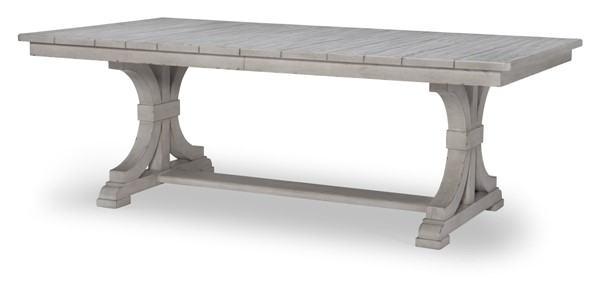 Legacy Furniture Belhaven Weathered Plank Complete Trestle Table LGC-9360-622K