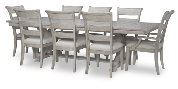 Legacy Furniture Belhaven Weathered Plank Trestle 9pc Dining Room Set LGC-9360-622-DR-S2