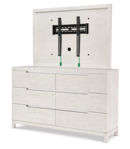 Legacy Furniture 11 West Cashmere White Dresser with TV Frame LGC-9600-1200-3100