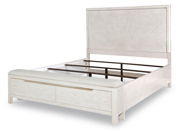 Legacy Furniture 11 West Cashmere White Bench Storage Bed LGC-9600-4135K-DRW-BEDS-VAR