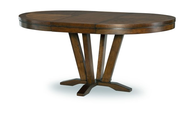 Legacy Furniture Highland Saddle Brown Round to Oval Pedestal Table LGC-9700-521