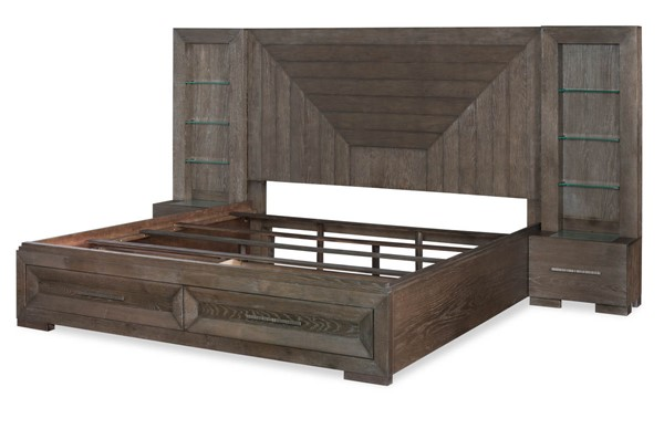 Legacy Furniture Facets Mink Silver Wall Panel Beds with Drawer LGC-9760-4125SK-DWR-BEDS-VAR