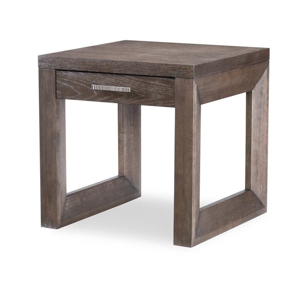 Legacy Furniture Facets Mink Silver Square End Table LGC-9760-505