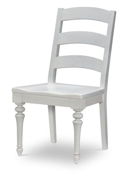 2 Legacy Furniture Farmdale Rustic White Ladder Back Side Chairs LGC-9770-140