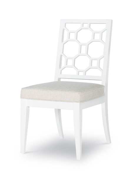 2 Legacy Furniture Chelsea by Rachael Ray White Lattice Back Side Chairs LGC-9781-140