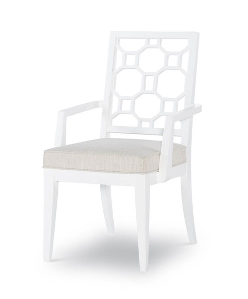 2 Legacy Furniture Chelsea by Rachael Ray White Lattice Back Arm Chairs LGC-9781-141
