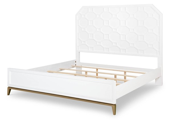 Legacy Furniture Chelsea by Rachael Ray White Gold Panel Beds LGC-9781-4105K-BEDS-VAR