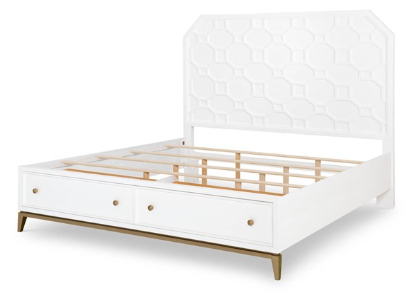Legacy Furniture Chelsea by Rachael Ray White Gold Drawer Beds LGC-9781-4125K-DWR-BEDS-VAR