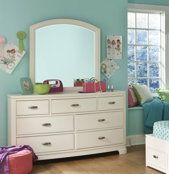 Park City Contemporary White Cherry Wood Dressers And Mirrors LGC-9910-DRMR-VAR