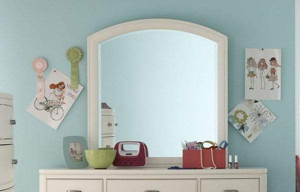 Park City Contemporary White Arched Dresser Mirror LGC-9910-0300