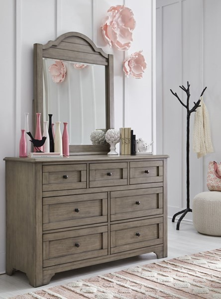 Legacy Kids Farm House Old Crate Brown Dresser and Mirror LGC-9950-1100-DRMR