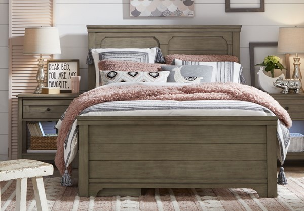 Legacy Kids Farm House Old Crate Brown 2pc Bedroom Set with Twin Bed LGC-9950-4203-KDS-BED-S1
