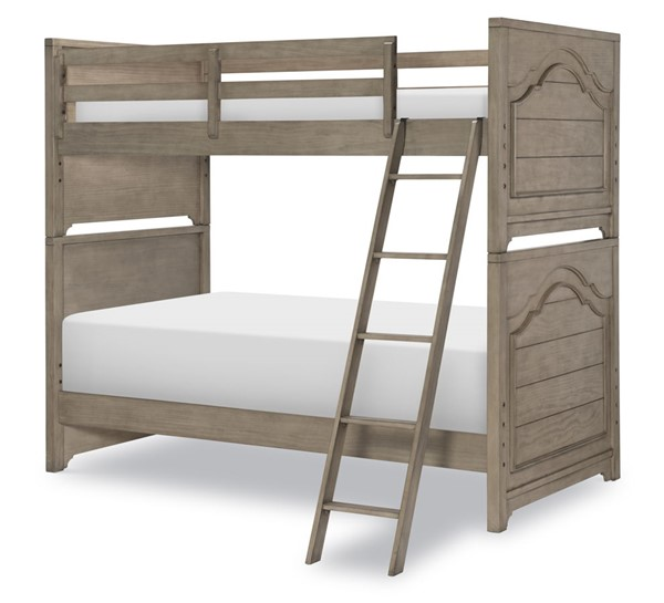 Legacy Kids Farm House Old Crate Brown Twin over Twin Bunk Bed With Underbed Storage Unit LGC-9950-8110-9300-BNK-BED-S2