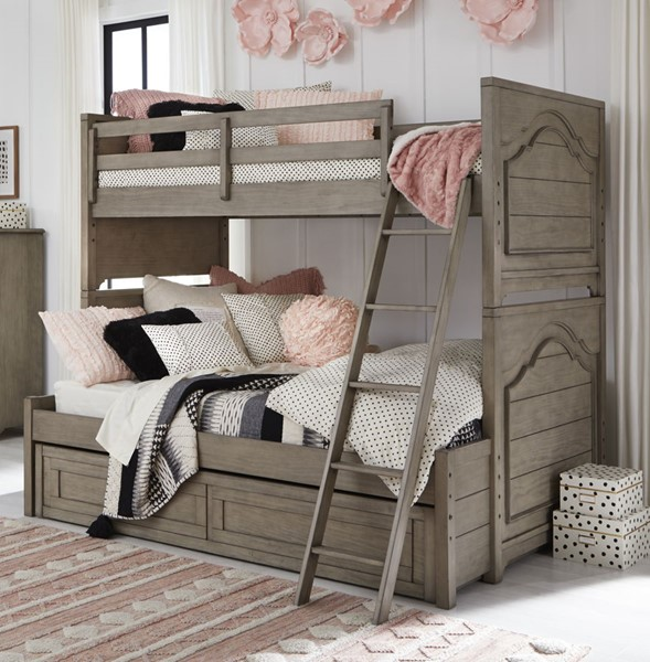 Legacy Kids Farm House Old Crate Brown Bunk Beds With Trundle Storage Drawer LGC-9950-8140-9500-BNK-BED-VAR