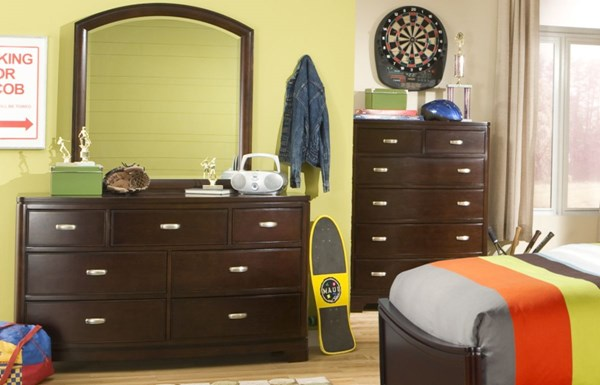 Park City Contemporary Cherry Dresser and Mirror LGC-9980-0300-1100
