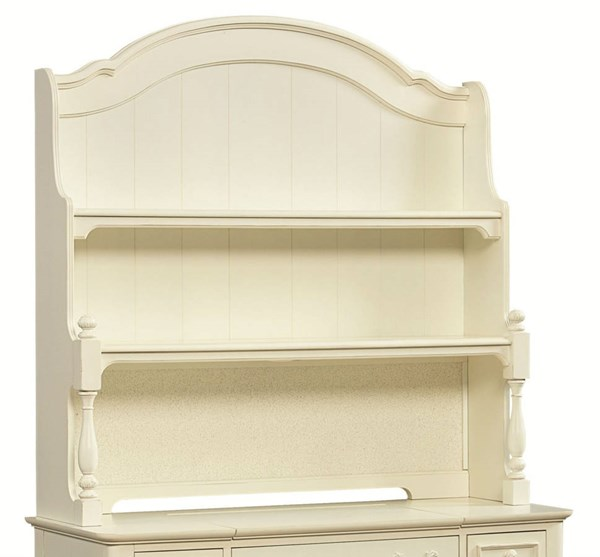 Charlotte Traditional Antique White Wood Hutch LGC-3850-7201