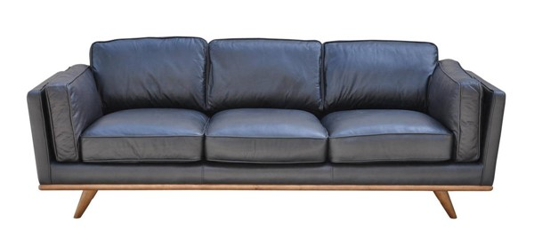 LH Imports Las Vegas Aria Black Leather Sofa LHI-ARIA-05