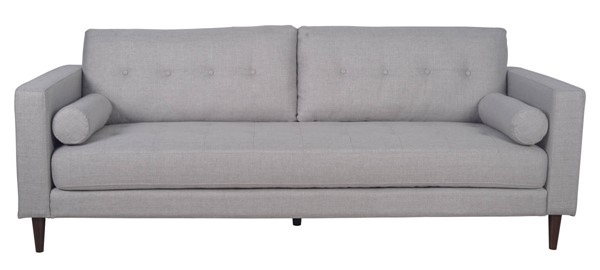 LH Imports Feather Grey Linen Quinn Sofa LHI-FTH003-GL