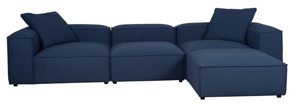 LH Imports Feather Ocean Blue Finnegan Sofa LHI-FTH005