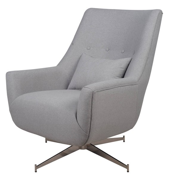 LH Imports Feather Pebble Grey Plaza Swivel Chair LHI-FTH010