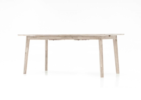 LH Imports Gia Light Brown Grey Solid Wood Extension Dining Table LHI-GIA011