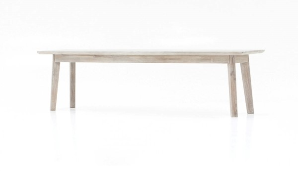LH Imports Gia Light Brown Grey Solid Wood Bench LHI-GIA016