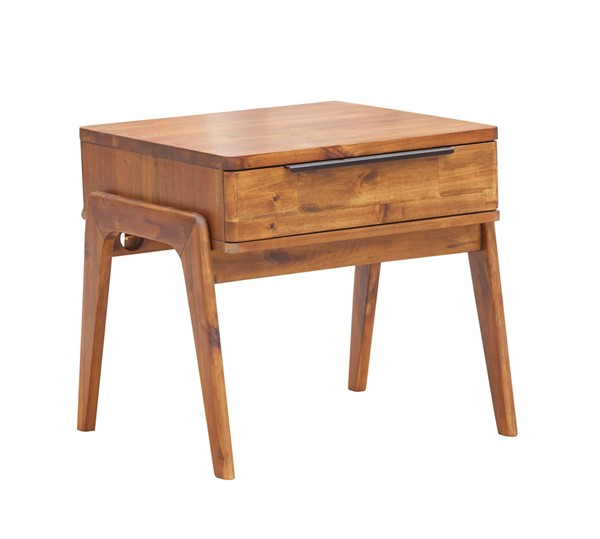 LH Imports Remix Solid Acacia Side Table LHI-REM033