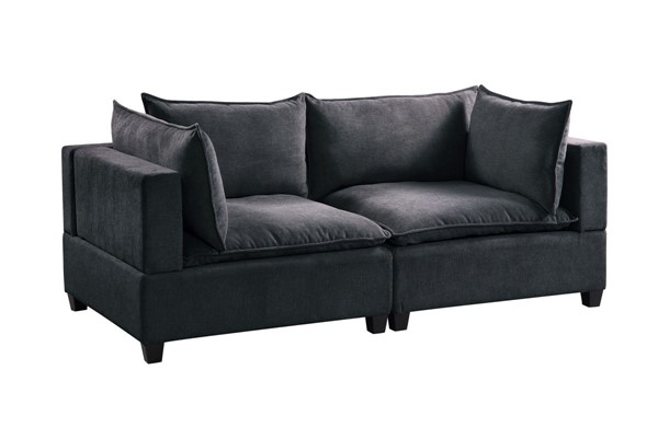Lilola Home Madison Dark Gray Fabric Loveseat LILO-81401-4