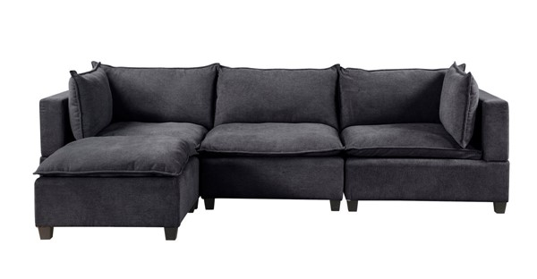 Lilola Home Madison Dark Gray Fabric Reversible Sectional LILO-81401-6