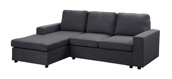 Lilola Home Newlyn Dark Gray Linen Reversible Sectional LILO-81801-1